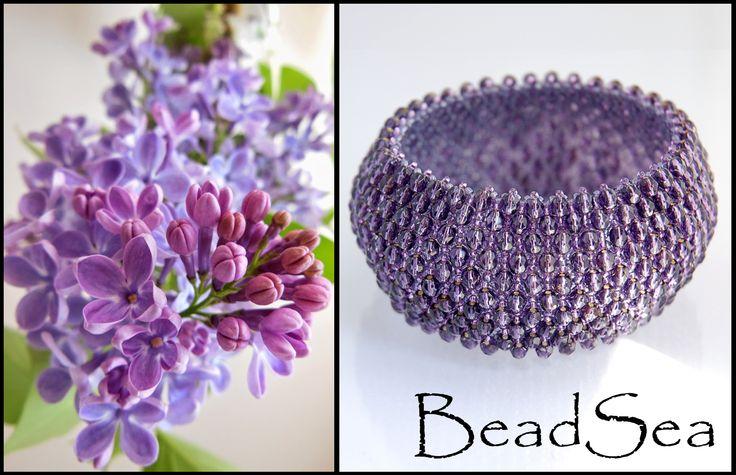 "Bracelet ""Syringa"" made by BeadSea"