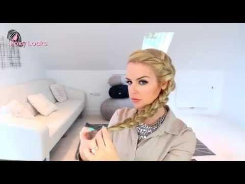 Dolgun Fransız Örgüsü Saç Modeli - YouTube