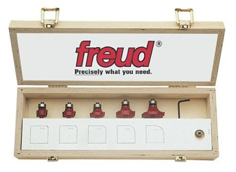 Freud 89-152 6-Piece Round Over and Beading Router Bit Set - Door And Window Router Bits - Amazon.com