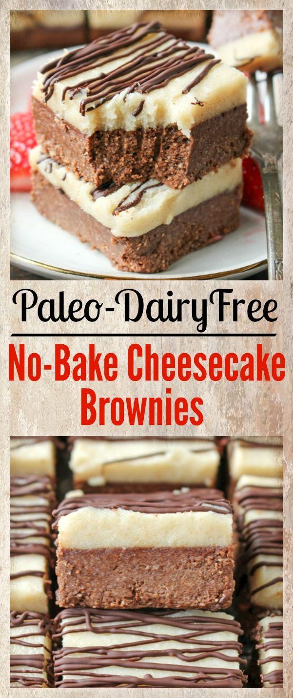 Paleo No Bake Cheesecake Brownies Recipe Sweet Low Carb Noms