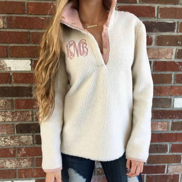 "Fits True to Size. The Model is Wearing a Small.  If you would like to order this without a monogram please put ""no monogram"" in the monogram box.  Please make sure to enter the initials in the EXACT order that you would like them.  Monograms are typically: First Name Initial, LAST Name Initial, Middle Name Initial. For example, Margaret Elizabeth Blake would be listed as MBE. We will not rearrange the letters.   All Sales are Final. The delivery time is the same if this item is ordered with…"