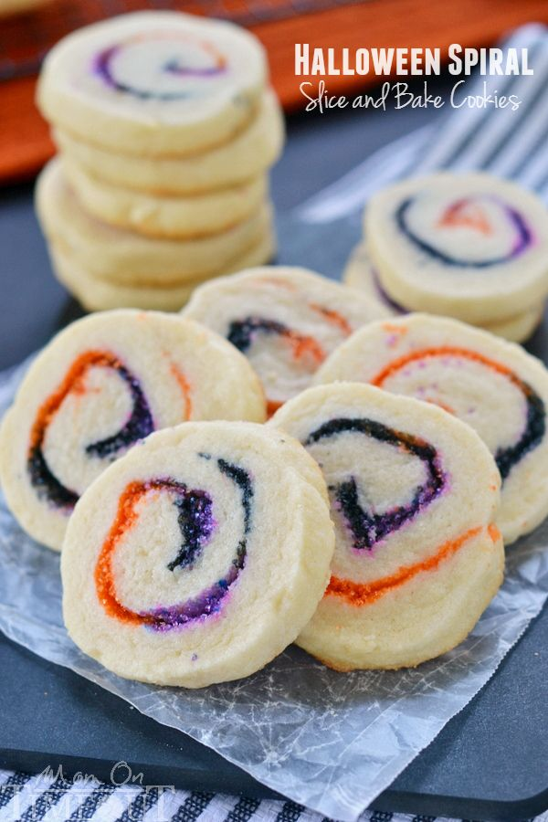 Halloween Spiral Slice and Bake Cookies - Mom On Timeout