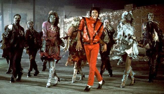 Майкл джексон в клипе в красном костюме