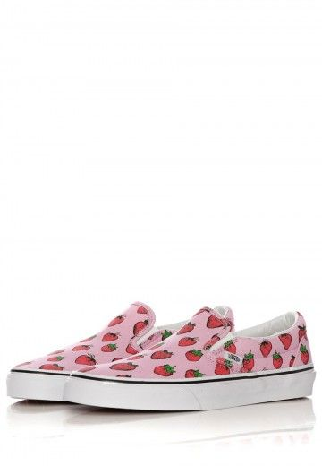 Vans - Classic Slip-On Strawberries Pastel Lavender/True White - Girl Shoes - Official Streetwear Online Shop - Impericon.com Worldwide