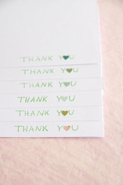 homemade thank you notes