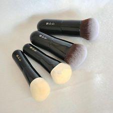 Pro 4pcs Goat Hair Makeup Blusher Brush Synthetic Hair Cosmetic Foundation Brush