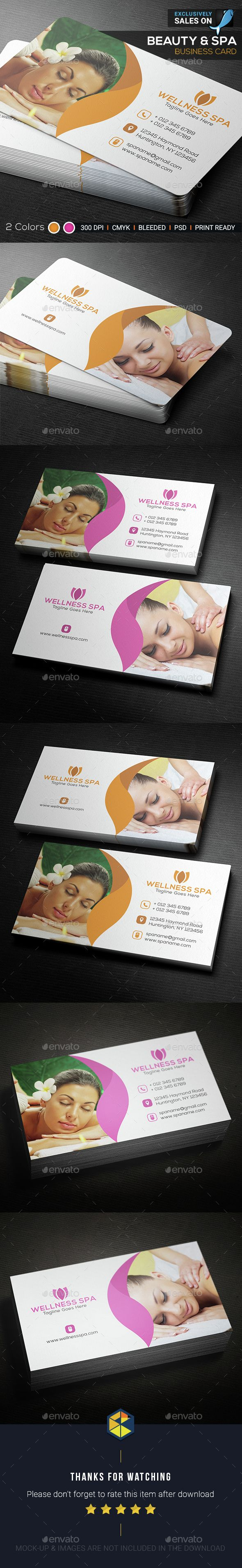 Beauty & Spa Business Card - Corporate #Business Cards Download here: https://graphicriver.net/item/beauty-spa-business-card/15377913?ref=classicdesignp