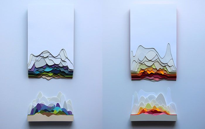 Maud Vantours: multicolored paper works | the PhotoPhore