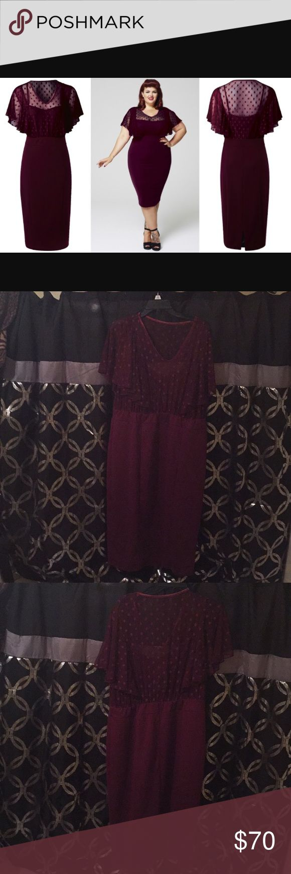 Scarlett & Jo London dress Brand new with tags maroon colored pencil dress. Size 22 Dresses