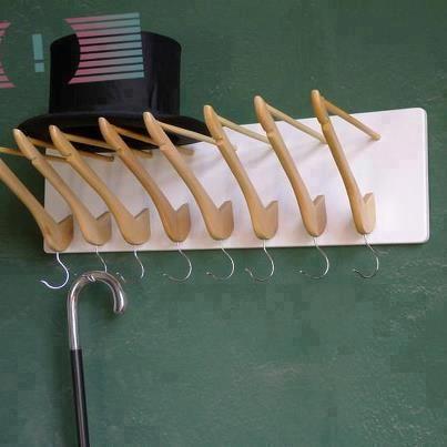 Using hangers in your mudroom.