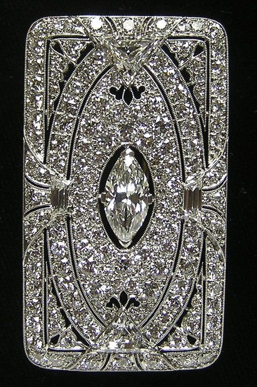 Tiffany & Co.-Antique Diamond Brooch