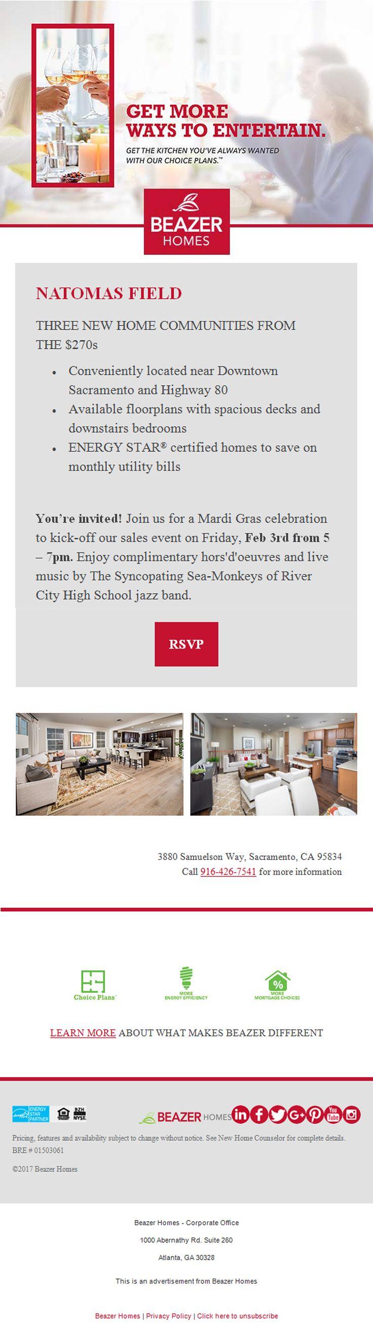 New Homes In Sacramento, California 2/3/17   Youu0027re Invited
