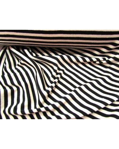 Manufacturer // 5mm Cream Stripe Jersey- Black - $9.95