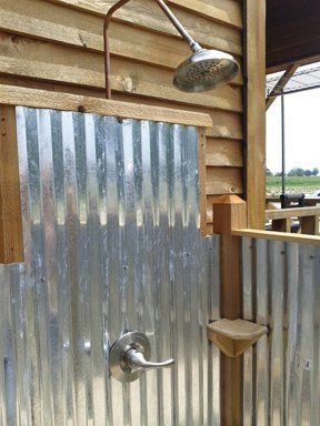 Let's Build An Outdoor Shower – County Line Magazine – June 2012/like the shower head and steel panels