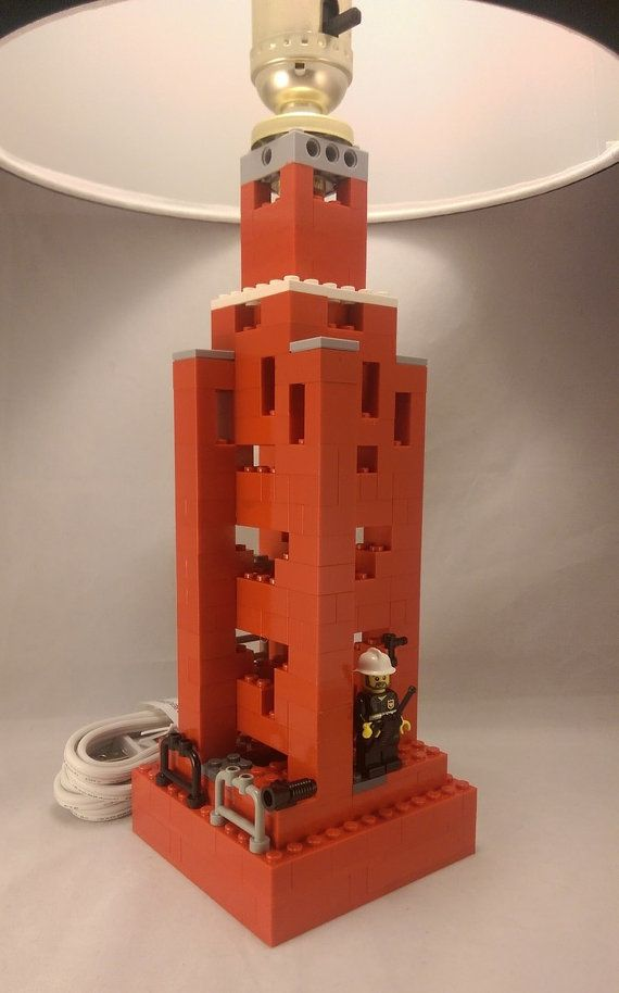 Firefighter Themed LEGO Lamp for your child's by BrickABlocks