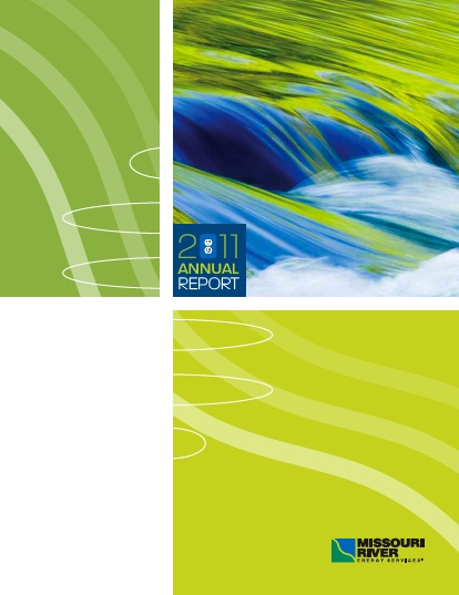 Annual Report cover for Missouri River Energy Services