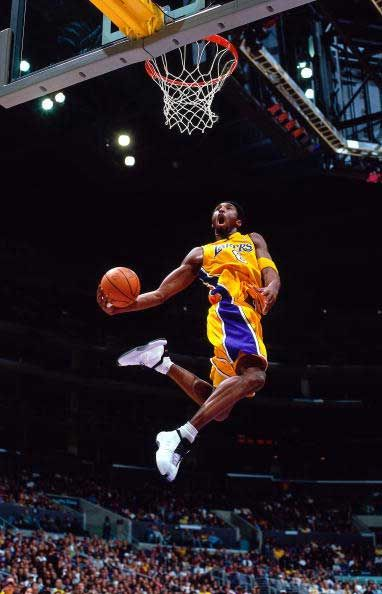 Kobe dunks on people ..