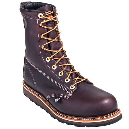 Thorogood Boots Men's Steel Toe 804-4518 EH USA Made Wedge Sole Boots