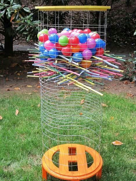 backyard game lawn game kerplunk game diy kerplunk water balloon