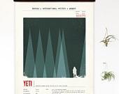 Limited Edition Yeti Species Print 8 x 10. $20.00, via Etsy.