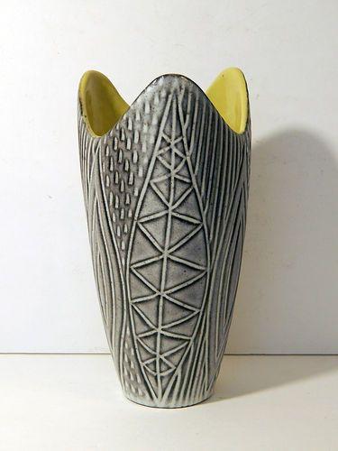 Vtg Upsala Ekeby Mari Simmulson Vase Mid Century Sweden Swedish Pottery Ceramic | eBay