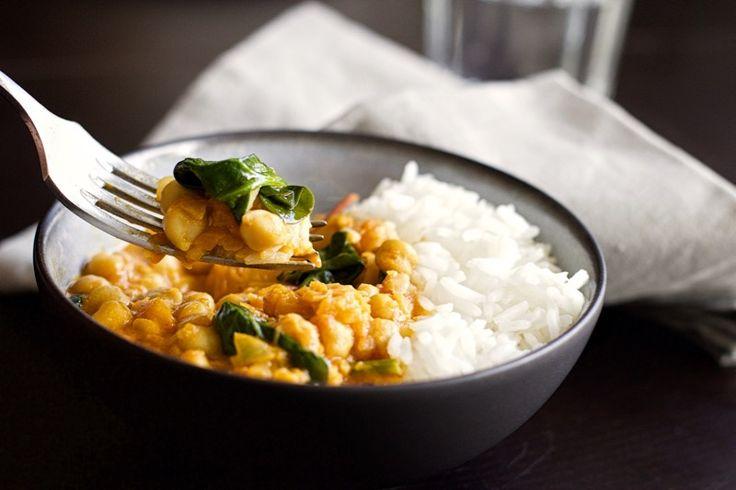 Une recette inratable de Curry de pois chiches {express, healthy, vegan, sans gluten et sans lactose !} Thermomix sur Yummix • Le blog culinaire dédié au Thermomix !
