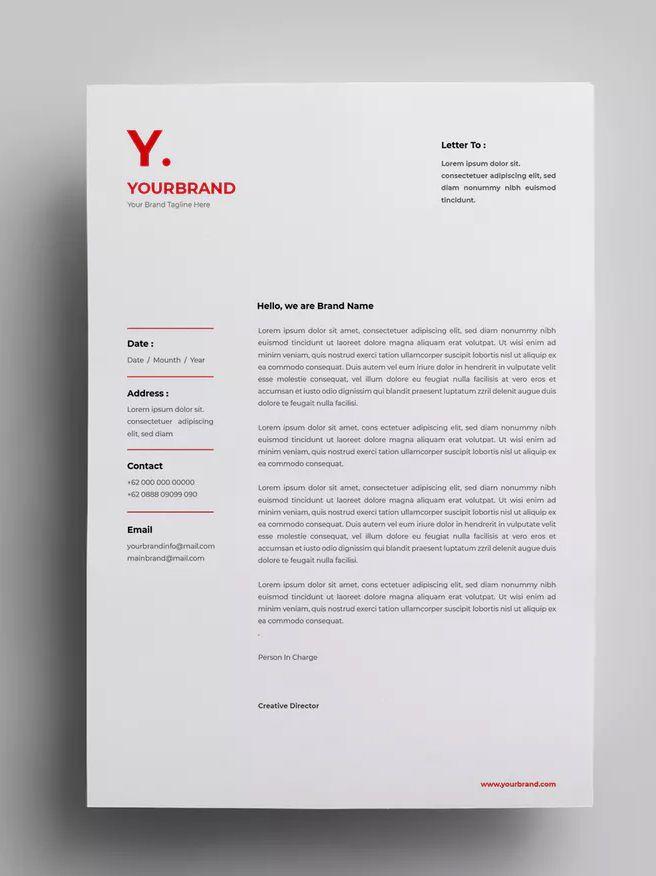 Letterhead Design Templates 19 By Surotype On Letterhead Design