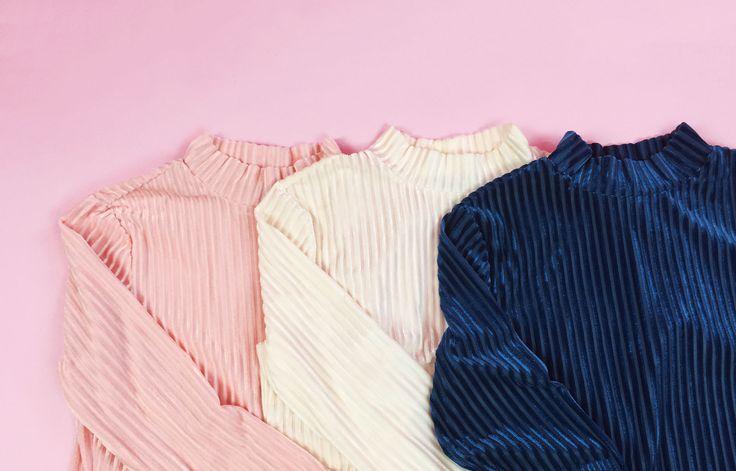 Pink, white or blue? We'll take velvet in every colour plz & thnks