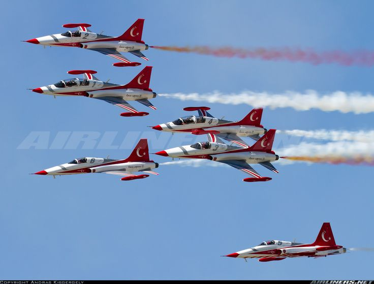 """Turkish Air Force """"Turkish Stars"""" Northrop/Canadair NF-5A and NF-5B Freedom Flighters"""