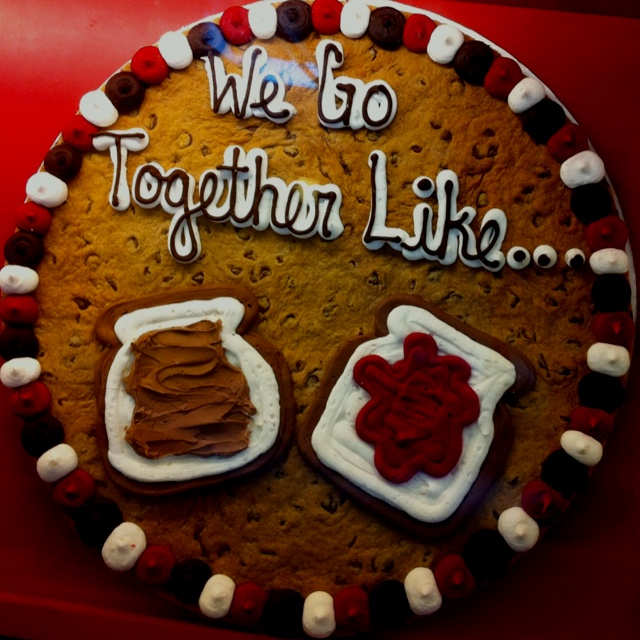 """... Day """"We Go Together Like..."""" Peanut Butter and Jelly (Cookie Cakes"""