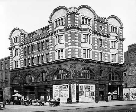 Elephant And Castle tube station, 1907. It had opened the year before by the…