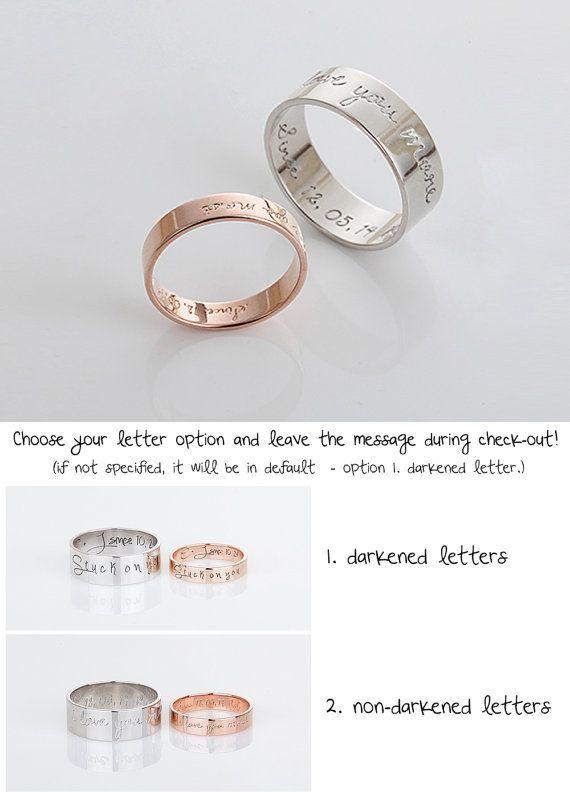 Personalized firma anello Rose Gold promessa anelli di ThePitAPat