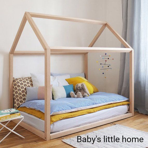 Toddler Bed Montessori Bed House Bed Frame Kids Nursery Playhouse Kids Bed Design House Frame Bed Kids Wooden Bed