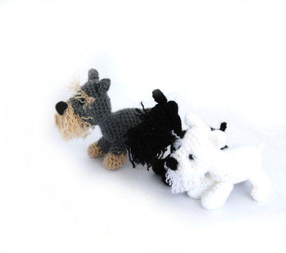 26.64$ SCHNAUZER dog, miniature Schnauzer, crochet dog, amigurumi pet, schnauzer lovers, stuffed dog doll, small gift for men, pet lovers