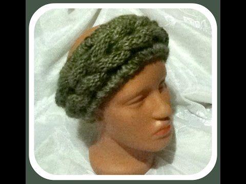 Вязание спицами для начинающих. Повязка на голову //  knitting for beginners - YouTube