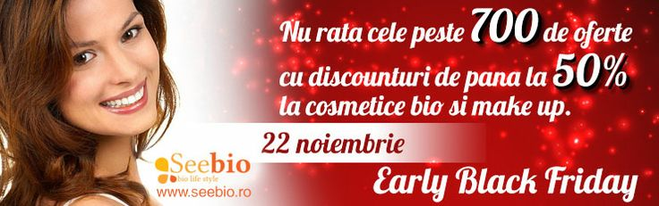 Reducere cosmetice bio Lavera, Martina Gebhardt, Khadi, etc acum pe www.seebio.ro. De Early Black Friday!