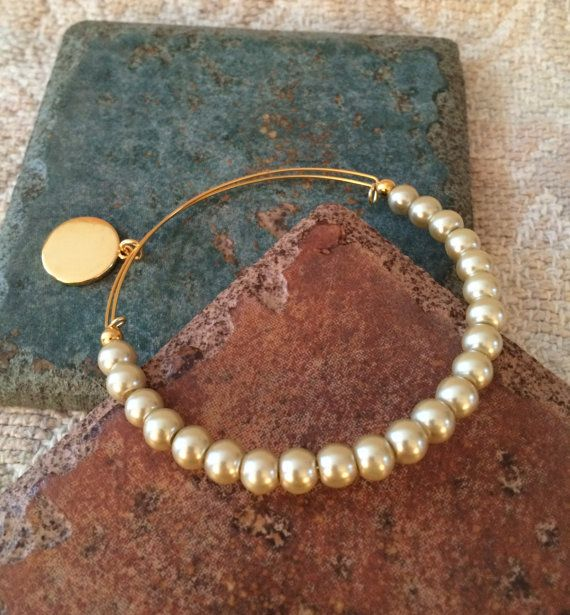 Alex and ani Inspired Expandable Gold Tone by GrecoGirlJewelry