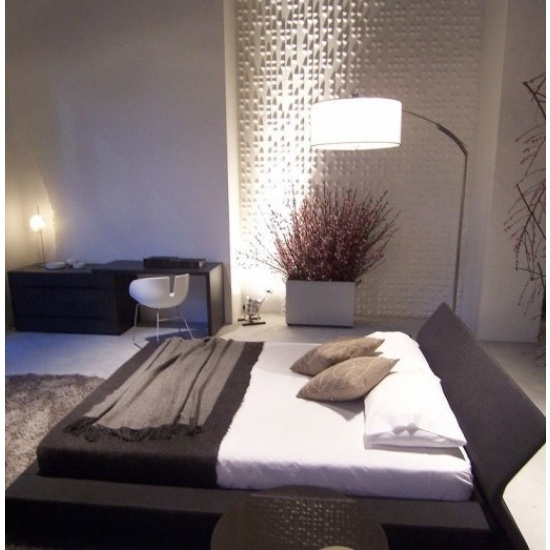 Braille Wall Flat Bedroom Installation By Inhabit Living