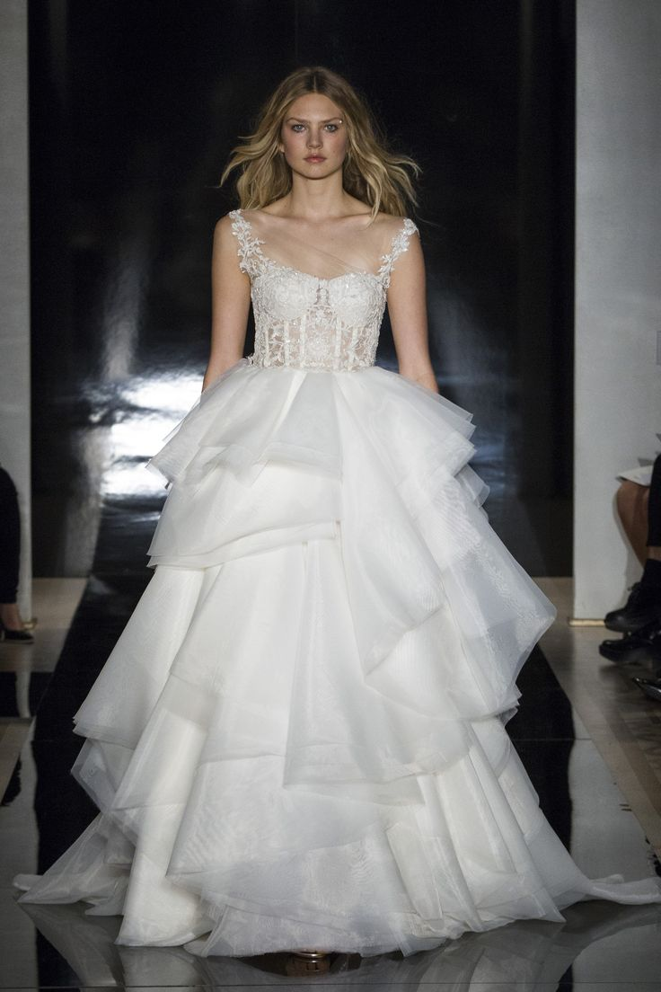 Cheap wedding dresses for military brides  MONIQUE LHUILLIER  Spring