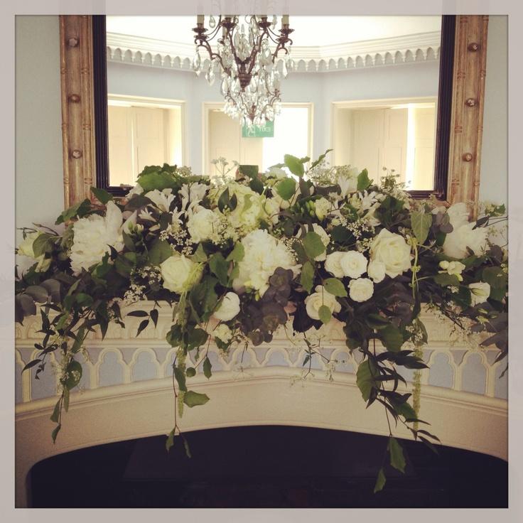 mantelpiece arrangement.