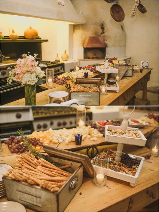 Classic Pink And Gold Wedding At Sunstone Winery. Rustic Buffet TablesBuffet  ...