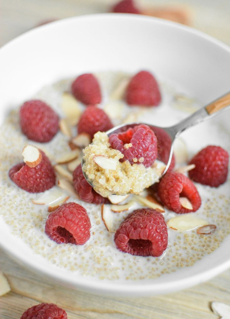 Quinoa has grown on me over the years. I wasn't a huge fan from the start, but overtime and with it prepared the way I like, I learned to really love the stuff. One of my favorite ways to eat it is for breakfast. Whether it's with milk and berries... #almondmilk #appetizersandsnacks #breakfast