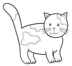 Výsledek obrázku pro kotě obrys
