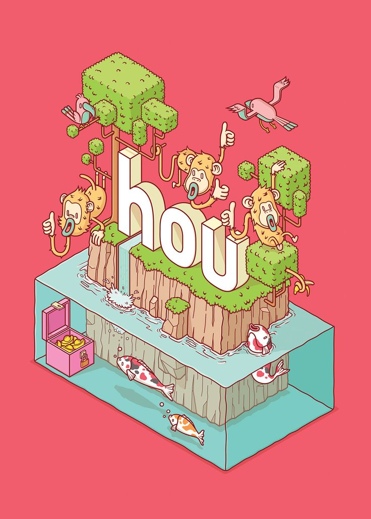 An illustration for celebration of Chinese New Year 2016'Hou' mean monkey in mandarin & mean good in cantonese Therefore, wishing all of you a good monkey year this 2016 !