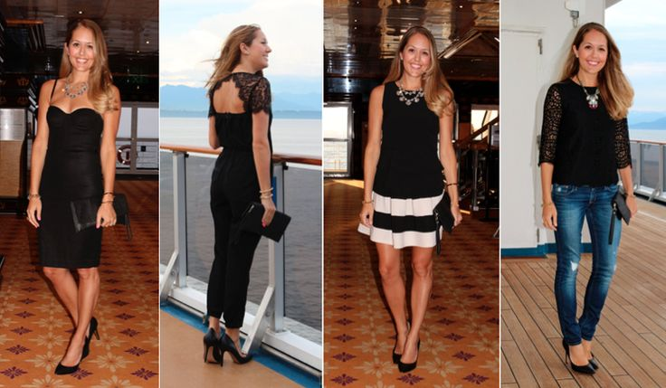 Cruise dinner outfits - Same shoes, 4 ways