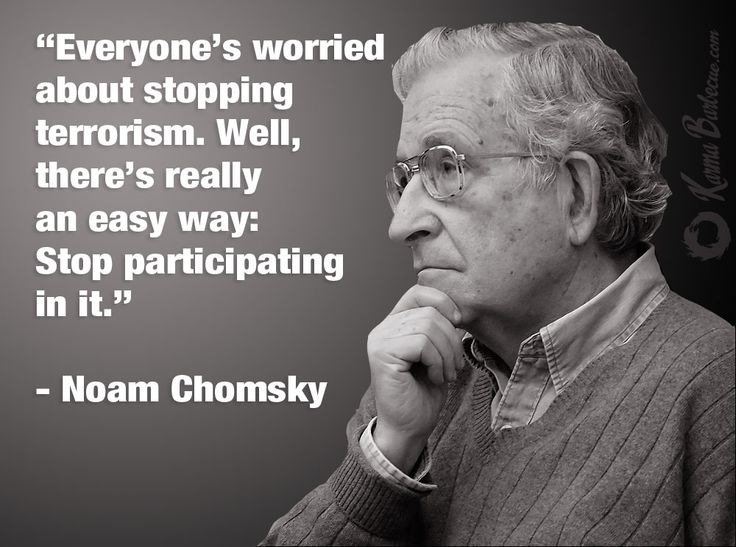 Noam Chomsky on terrorism - Imgur