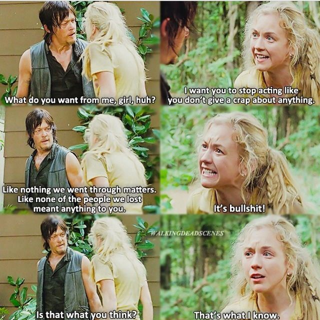 Daryl Dixon and Beth Greene, Bethyl - The Walking Dead