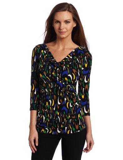 super cute shirt!3 4 Sleeve, Chaus Women, Modern Style, Modern Shape, Super Cute, Women Modern, Women Tops, Neck Tops, Sleeve Crisscross