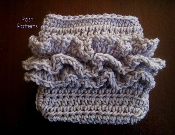 Free Crochet Pattern For Baby Diaper Soaker : Crochet PATTERN - Ruffle Bottom Diaper Cover Pattern ...