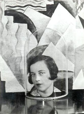 Cecil Beaton Baba with Glass Dome   1926   Silver gelatin surrealist vintage print of woman's head in glass dome, unsigned, 19 x 7 1/2 inches.   Excellent condition.